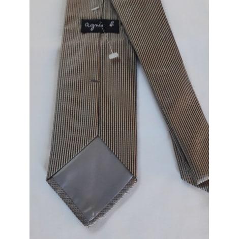 Cravate AGNÈS B. Doré, bronze, cuivre