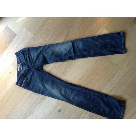 Jeans droit SALSA Bleu, bleu marine, bleu turquoise