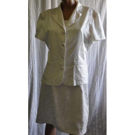 Tailleur robe CACHE CACHE Blanc, blanc cassé, écru