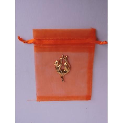 Pendentif, collier pendentif VINTAGE Doré, bronze, cuivre