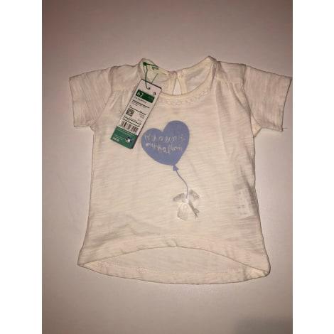 Top, tee shirt UNITED COLORS OF BENETTON Blanc, blanc cassé, écru