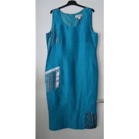 Robe longue UN JOUR AILLEURS Bleu, bleu marine, bleu turquoise