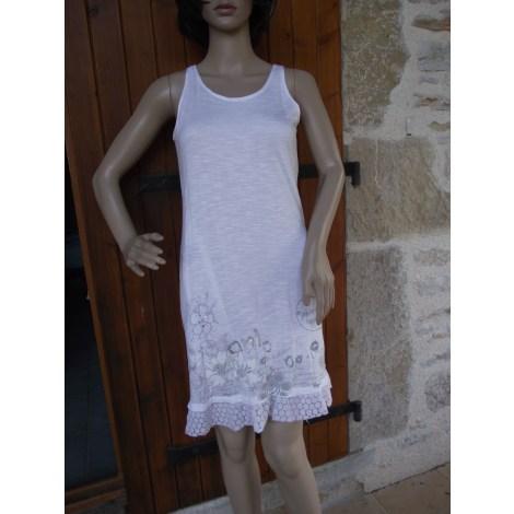 Robe mi-longue DESIGUAL Blanc, blanc cassé, écru