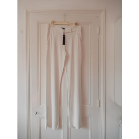 Pantalon large IKKS Blanc, blanc cassé, écru