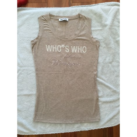 Top, tee-shirt WHO'S WHO Beige, camel