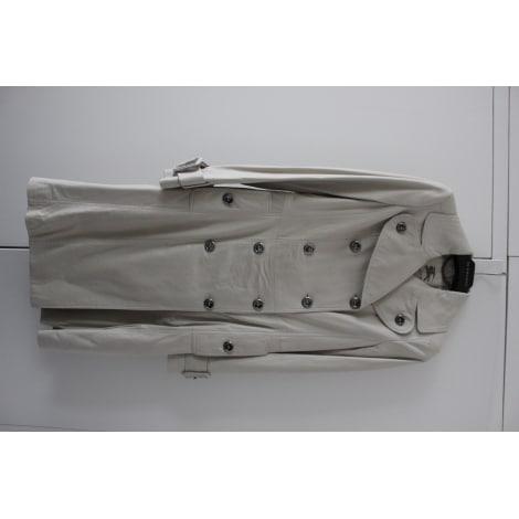 Manteau en cuir BURBERRRY Gris, anthracite