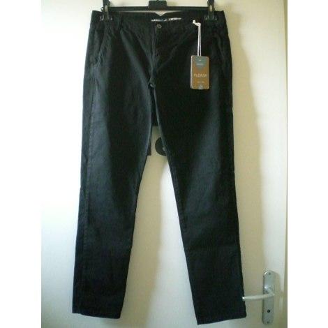 Pantalon slim, cigarette PLEASE Noir