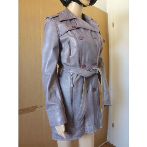 Manteau en cuir GIOVANNI Gris, anthracite