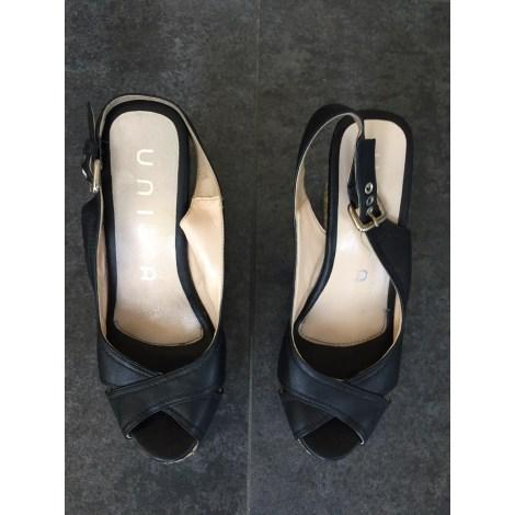 Sandales compensées UNISA Noir