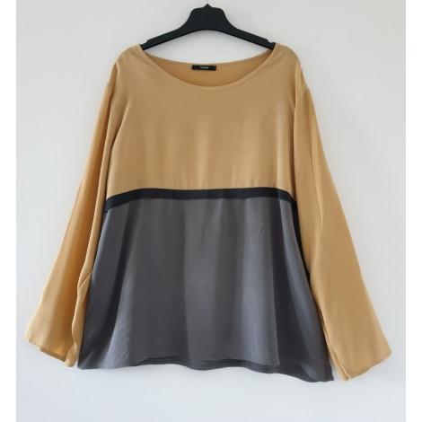 Top, tee-shirt TOUPY Moutarde - Gris - Noir