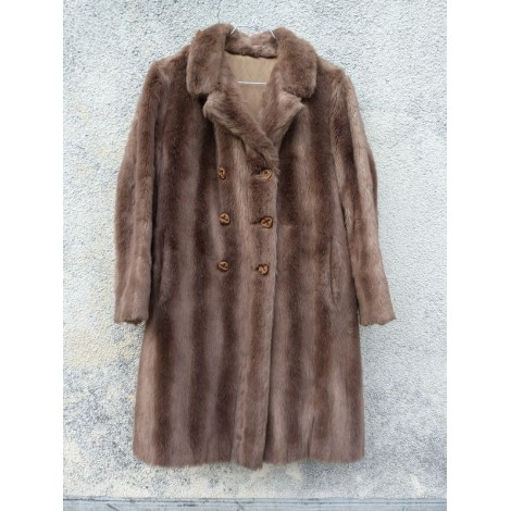 Manteau en fourrure 100% VINTAGE Marron