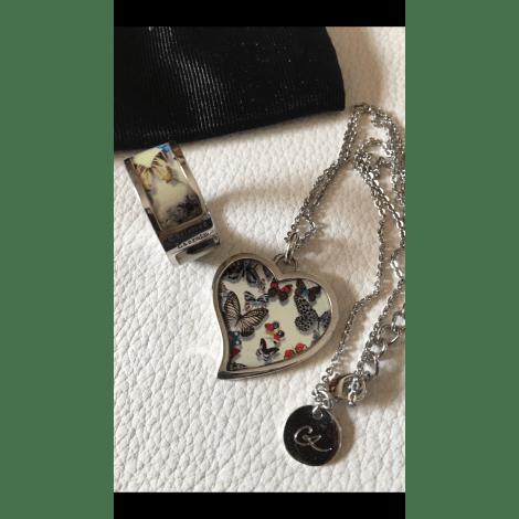 Parure bijoux CHRISTIAN LACROIX Argenté, acier