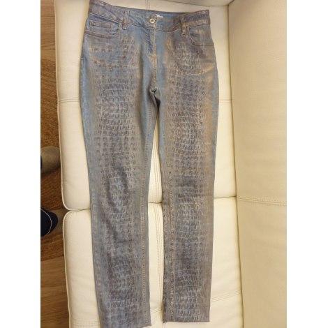 Pantalon slim, cigarette VOODOO Bleu, bleu marine, bleu turquoise