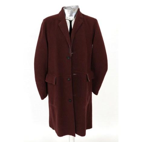 Manteau en cuir PAUL SMITH Rouge, bordeaux