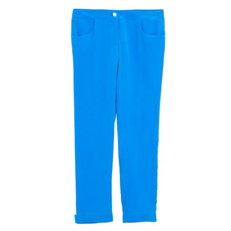 Pantalon slim, cigarette CHANEL Bleu, bleu marine, bleu turquoise