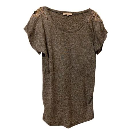 Top, tee-shirt SANDRO Gris, anthracite