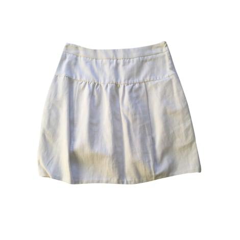 Jupe courte COMPTOIR DES COTONNIERS Blanc, blanc cassé, écru