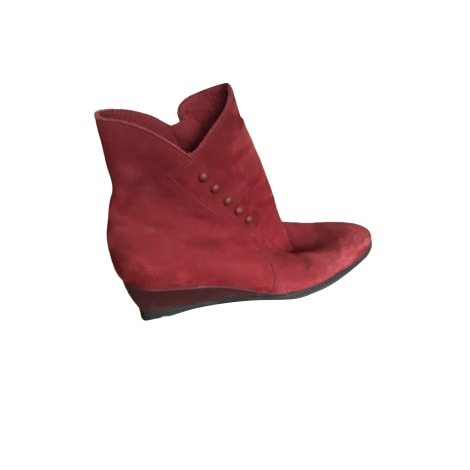 High Heel Ankle Boots ARCHE Red, burgundy