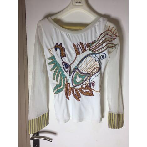 Top, tee-shirt SAVE THE QUEEN Blanc, blanc cassé, écru