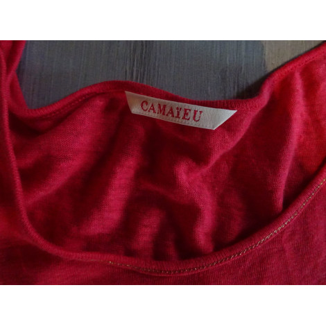 Top, tee-shirt CAMAIEU Rouge, bordeaux