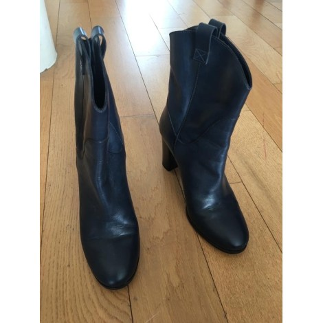 High Heel Ankle Boots GERARD DAREL Bleu marine