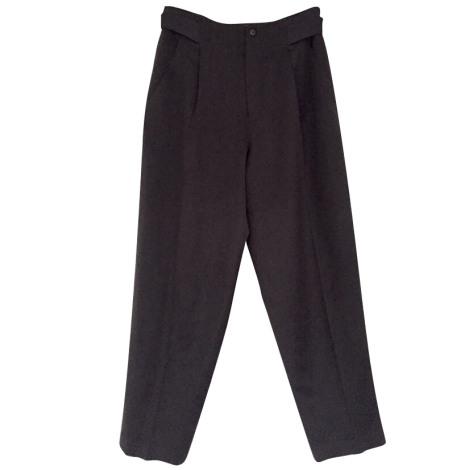 Pantalon carotte ISSEY MIYAKE Marron