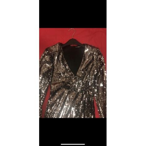 Robe courte H&M Argenté, acier