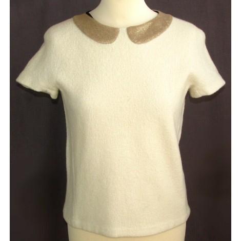 Top, tee-shirt MAJE Blanc, blanc cassé, écru