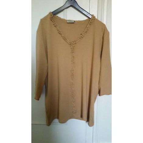Top, tee-shirt YESSICA Beige, camel