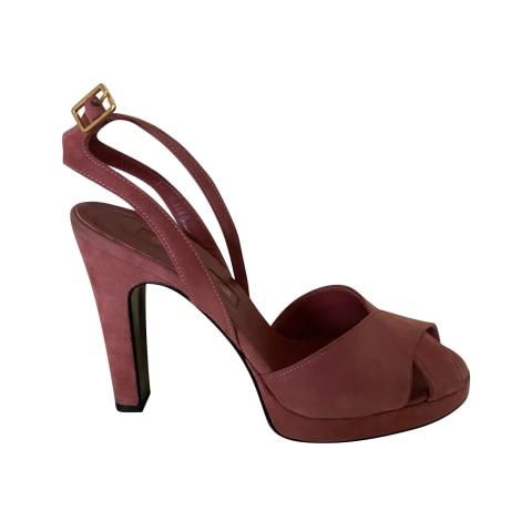 Sandales compensées SERGIO ROSSI Rose, fuschia, vieux rose