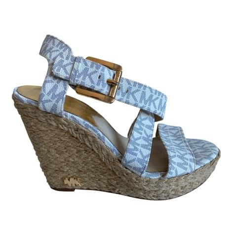 Sandales compensées MICHAEL KORS Beige, camel