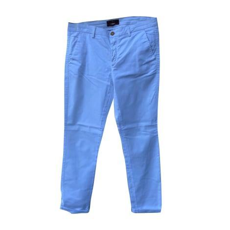 Pantalon droit 7 FOR ALL MANKIND Blanc, blanc cassé, écru