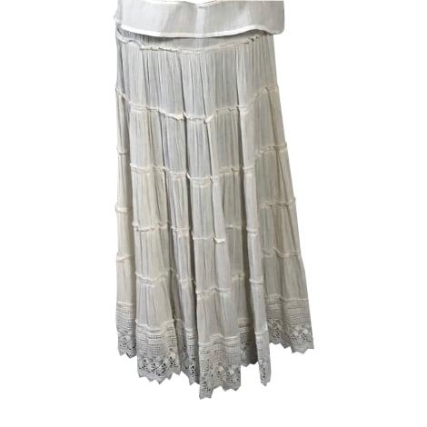 Jupe longue DENIM & SUPPLY Blanc, blanc cassé, écru
