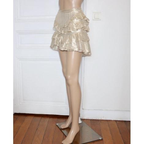 Jupe courte GRÈS Doré, bronze, cuivre