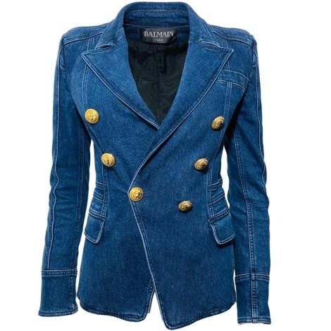 Blazer, veste tailleur BALMAIN Bleu, bleu marine, bleu turquoise