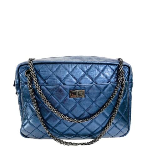 Sac en bandoulière en cuir CHANEL Bleu, bleu marine, bleu turquoise