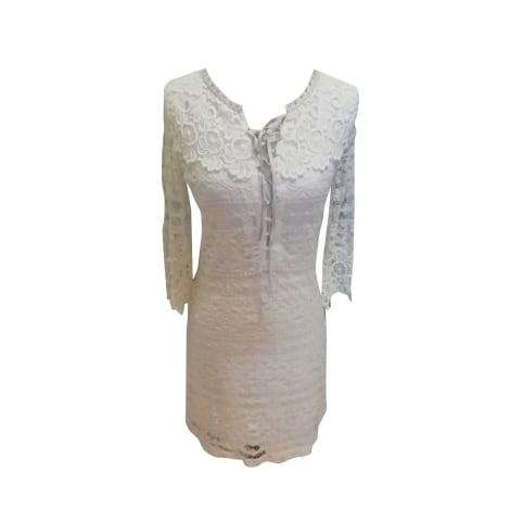 Robe courte MAJE Blanc, blanc cassé, écru