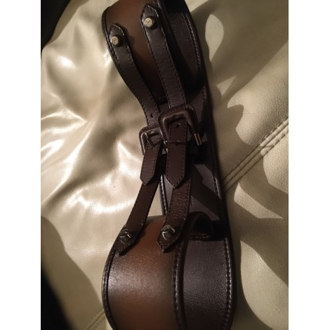 Ceinture large BURBERRY Marron
