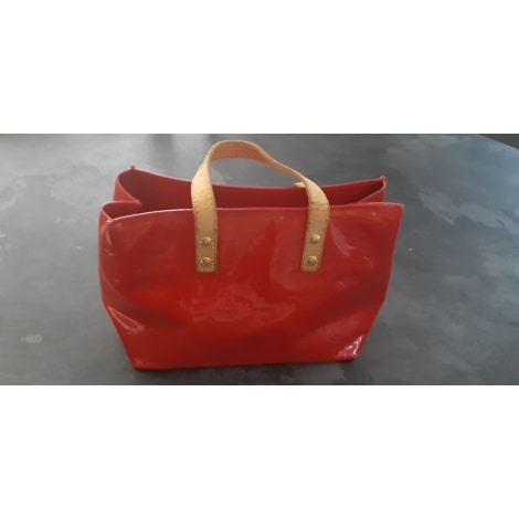 Sac à main en cuir LOUIS VUITTON Rouge, bordeaux