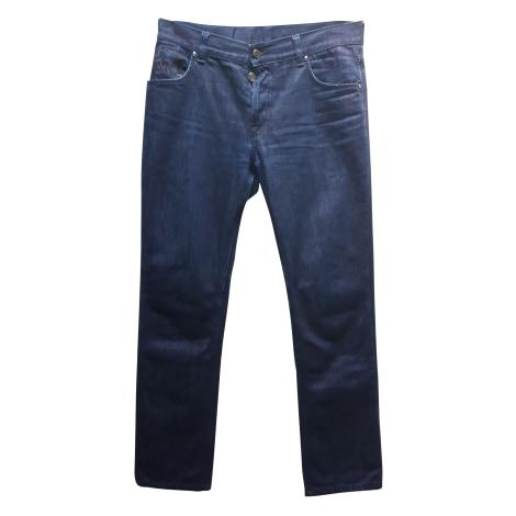 Jeans droit ALEXANDER MCQUEEN Bleu, bleu marine, bleu turquoise