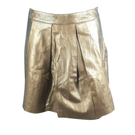 Jupe mi-longue COMPTOIR DES COTONNIERS Doré, bronze, cuivre