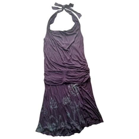 Robe dos nu MANGO Violet, mauve, lavande
