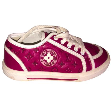 Chaussures à lacets LOUIS VUITTON Rouge, bordeaux