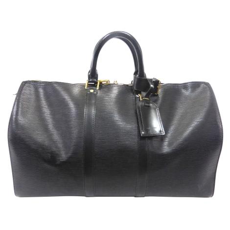 Sac XL en cuir LOUIS VUITTON Keepall Noir
