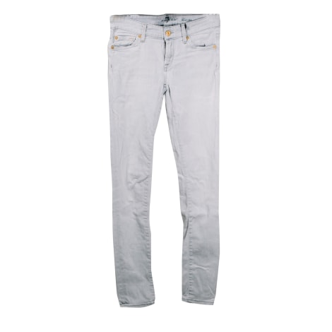 Jeans droit 7 FOR ALL MANKIND Gris, anthracite