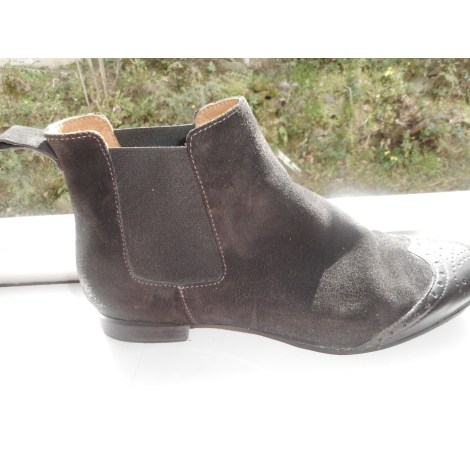 Bottines & low boots plates FIFTH AVENUE SHOE REPAIRS Gris, anthracite