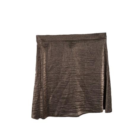 Jupe courte MODETROTTER Doré, bronze, cuivre