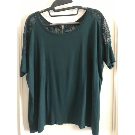 Top, tee-shirt MANGO Vert