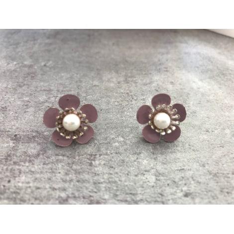 Boucles d'oreille H&M Rose, fuschia, vieux rose