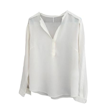 Chemise SANDRO Blanc, blanc cassé, écru